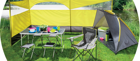 Table-de-camping foret